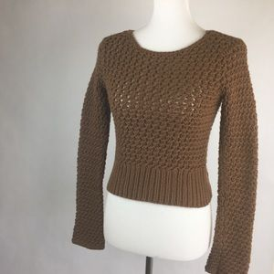 Banana Republic Brown Chunky Knit Crop Sweater